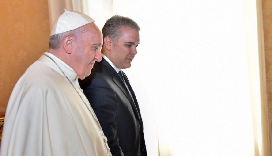 Ivan duque con el papa